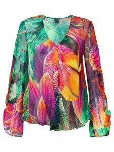 Pinko tropical print blouse - Green