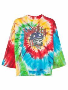 R13 Venice Daredevil skull-print tie-dye T-shirt - Tie Dye