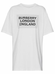 Burberry Logo Print Stretch Cotton T-shirt - White