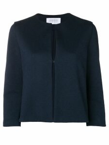 Harris Wharf London collarless cropped jacket - Blue