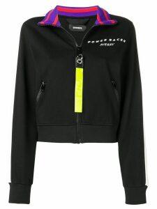 Diesel colour-block zipped sweatshirt - Black