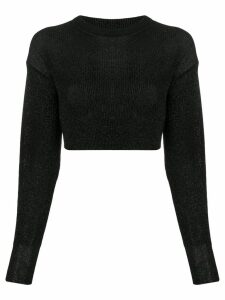 Laneus cropped knit jumper - Black