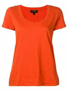 Theory short-sleeve fitted T-shirt - ORANGE