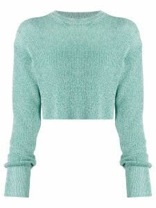 Laneus cropped knit jumper - Green