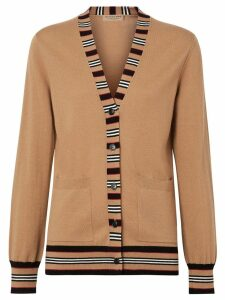 Burberry Icon Stripe Detail cardigan - NEUTRALS