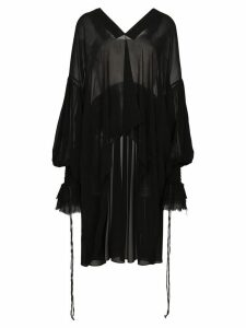 Saint Laurent asymmetric oversized blouse - Black