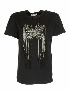 TwinSet Embellished Butterfly T-shirt