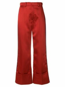 Tommy Hilfiger cropped high-waisted trousers - Red