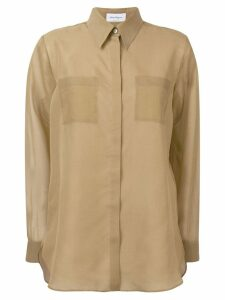 Salvatore Ferragamo khaki silk blouse - Neutrals