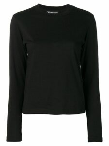 Y-3 graphic print long-sleeve top - Black