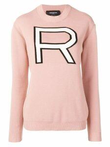 Rochas knitted logo jumper - Pink