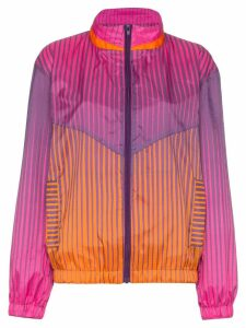 House of Holland stripe-print stand-collar track jacket - PINK