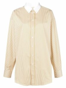 Melampo contrast collar shirt - White