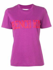 Alberta Ferretti French Kiss print T-shirt - PURPLE