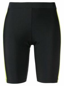Fantabody block stripe biker shorts - Black