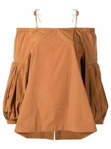 Dorothee Schumacher off-the-shoulder blouse - Brown