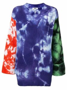 MSGM oversized tie-dye jumper - Blue