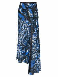 HOUSE OF HOLLAND snake-print chiffon skirt - Black