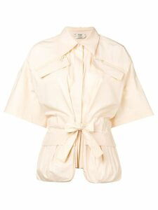 Fendi tie front blouse - Neutrals