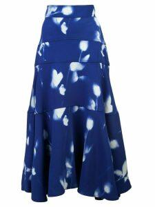 Proenza Schouler Rose Imprint Skirt - White