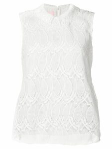Giamba embroidered sleeveless vest top - White
