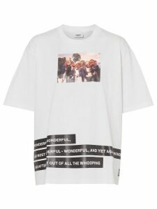 Burberry Montage Print Cotton T-shirt - White