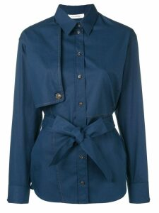 Cédric Charlier belted shirt - Blue