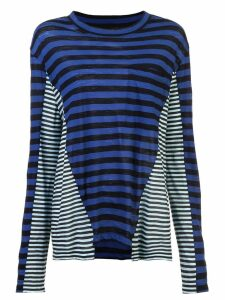 Proenza Schouler Multi Stripe T-Shirt - Blue