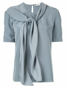 LANVIN tie neck blouse - Green