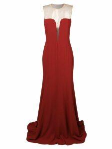 Stella McCartney sheer panel evening dress - Red