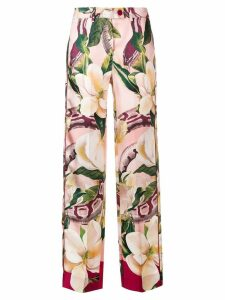 F.R.S For Restless Sleepers Rosa floral trousers - Red