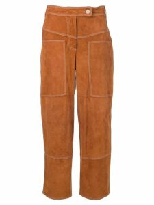 Desa 1972 suede cropped trousers - Brown