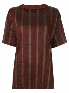 Uma Wang striped short-sleeve top - Red