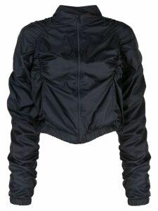 Fantabody ruched bomber jacket - Blue