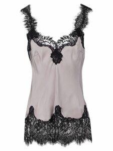 Gold Hawk longline lace cami - Grey