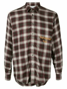 Ground Zero Substantial Void checked shirt - Red