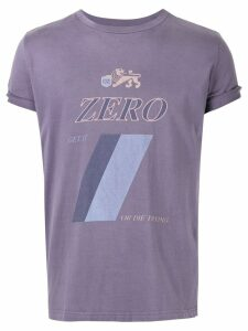 Ground Zero Zero printed T-shirt - PURPLE