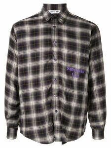Ground Zero Substantial Void checked shirt - PURPLE