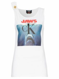 Calvin Klein 205W39nyc jaws logo cotton vest top - White