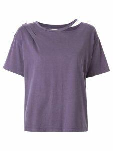 Ground Zero cut-out T-shirt - PURPLE