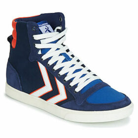 Hummel  SLIMMER STADIL HIGH  women's Shoes (High-top Trainers) in Blue