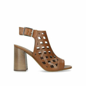 Carvela Arc - Tan Leather Flared Heel Sandals