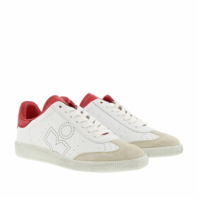 Isabel Marant Sneakers - Bryce Perforated Logo Sneaker Red - white - Sneakers for ladies