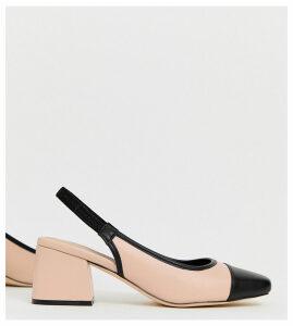 ASOS DESIGN Wide Fit Whisker slingback mid heels