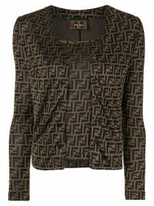 Fendi Pre-Owned FF logo cardigan and cami set - Brown