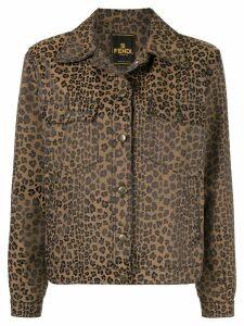 Fendi Pre-Owned leopard jacquard jacket - Brown