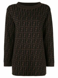 Fendi Pre-Owned FF logo jumper - Brown