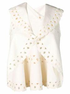 Alaïa Pre-Owned sleeveless cut out shrug - White