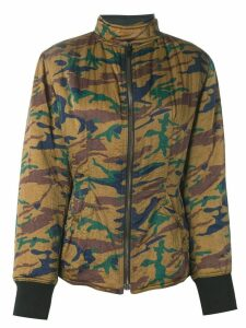 Jean Paul Gaultier Pre-Owned camouflage padded jacket - Green