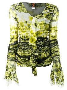 Jean Paul Gaultier Pre-Owned gathered top - Green